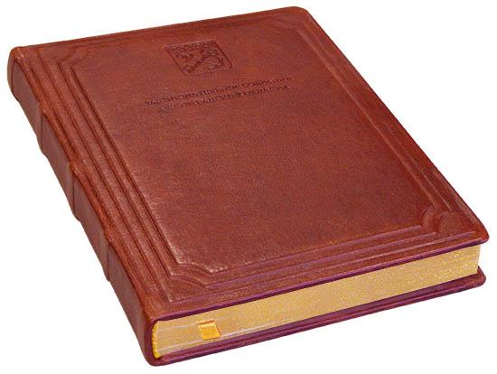 кожаный ежедневник с золотым переплетом
